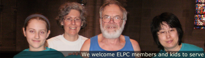 ELPC members and kids serve in various church positions