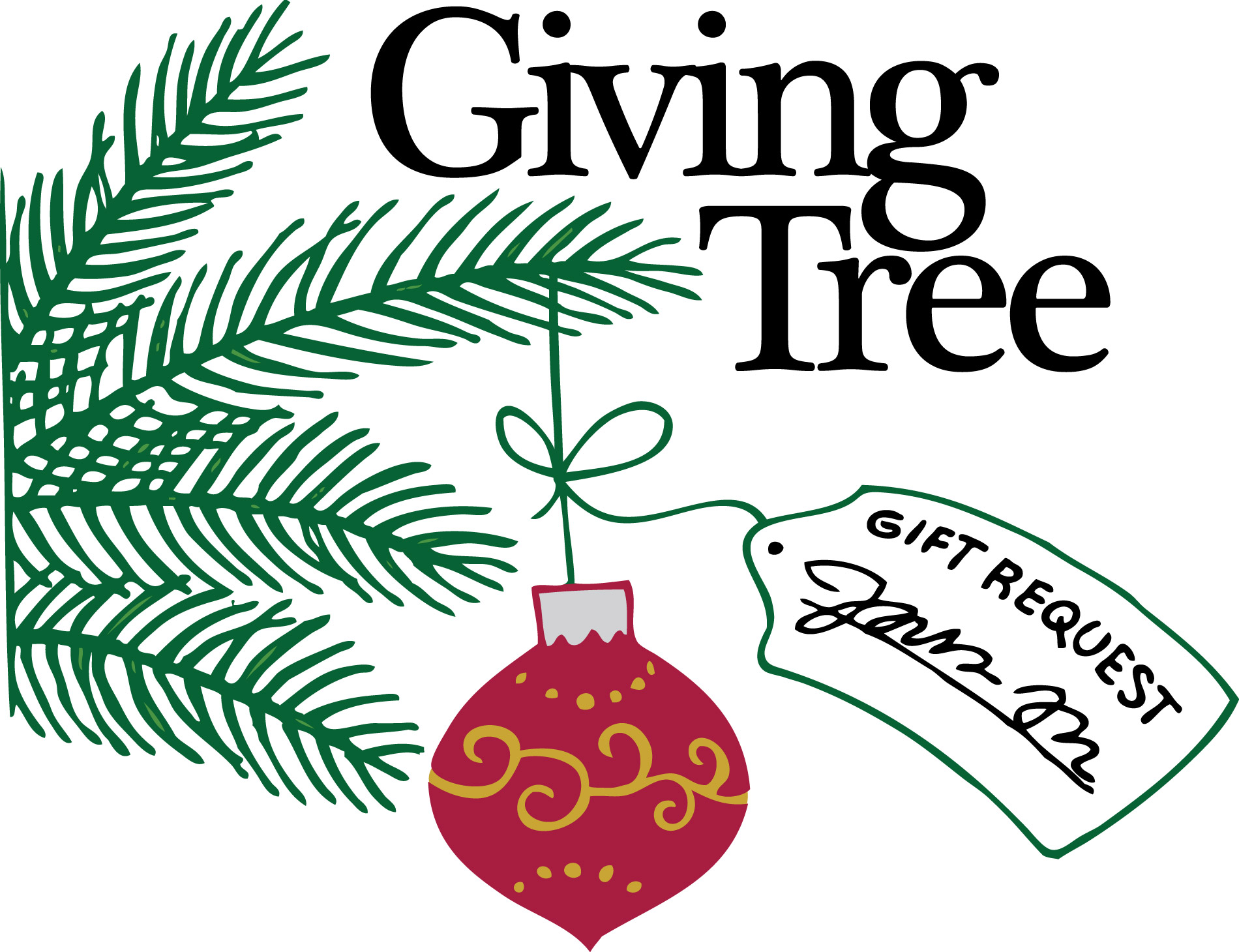 Today is the last day of the giving tree we will be collecting them all on Tuesday from all locations. Thanks to everyone that has donated already!!!