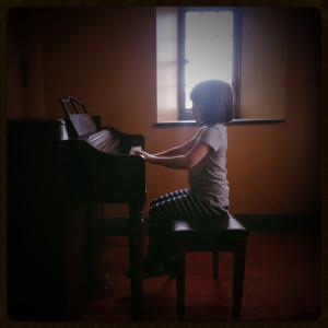 Quinn at Piano